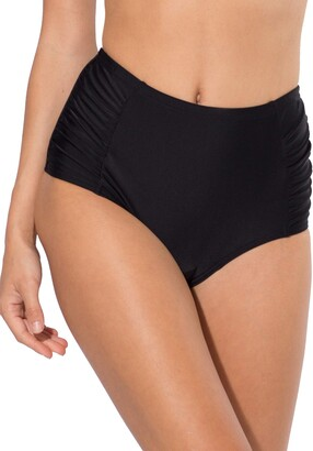 Smart & Sexy Women's High-Waisted Shaping Bikini Bottom with Side Ruching