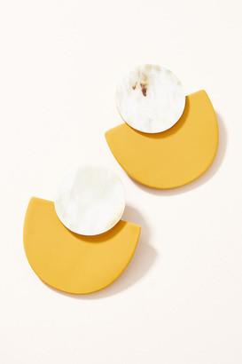 Bella Drop Earrings By Sunshine Tienda in Yellow