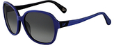 Diane von Furstenberg Fae Square Frame Sunglasses In Navy/black