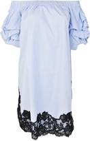 Ermanno Scervino Lace Detail Off-Shoulder Dress