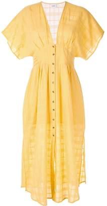SUBOO deep V neck dress