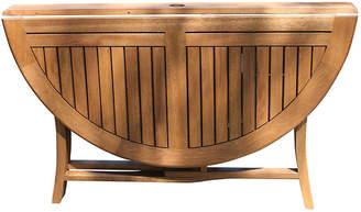 """One Kings Lane Kati 48"""" Folding Table - umber brown"""