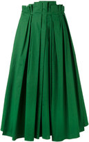 Rochas full pleated midi skirt - women - Cotton/Spandex/Elastane - 40