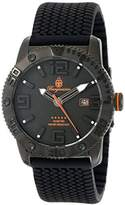 Burgmeister Men's Quartz Watch with Black Dial Analogue Display and Black Silicone Strap BM522-622B