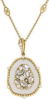 Judith Ripka 18K Colorless Sapphire, Mother of Pearl & Diamond Pendant Necklace