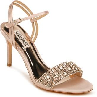 Badgley Mischka Garan Crystal Embellished Satin Sandal