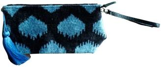 Punica Velvet Ikat Wrist Bag - Blue Spot