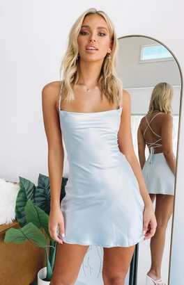 Beginning Boutique Come and Get it Dress Pale Blue