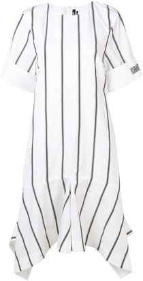 Calvin Klein Striped Asymmetric Dress