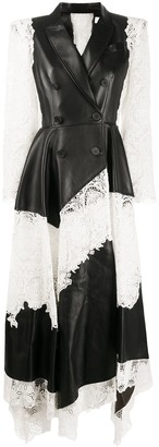 Alexander McQueen Lace-Panel Leather Dress