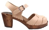 Lotta Clogs Lotta clogs - High Heel Peep Toe In Cappuccino Leather On Brown Base - 38