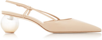Cult Gaia Aliza Leather And Acrylic Slingback Mules