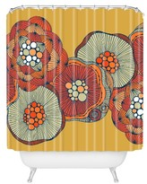 """DENY Designs Valentina Ramos Blomma in Yellow Shower Curtain by 71""""x74"""")"""