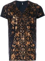 Unconditional foiled baroque print T-shirt - men - Cotton - XS