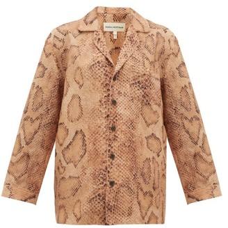 Mara Hoffman Iris Snake-print Shirt - Womens - Brown Print