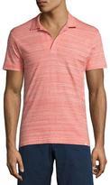 Orlebar Brown Felix Fine-Stripe Space-Dye Polo Shirt, Red