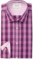 Ted Baker Lando Buff Check Trim Fit Dress Shirt