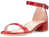 Stuart Weitzman Nudistjune Patent Low City Sandal