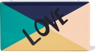 Edie Parker Jean Love Color-block Acrylic Box Clutch