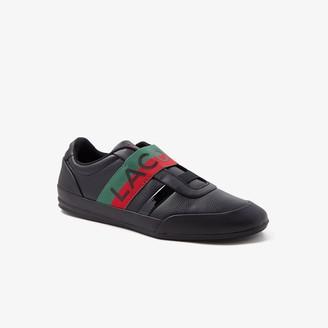 Lacoste Men's Misano Elastic Leather Sneakers