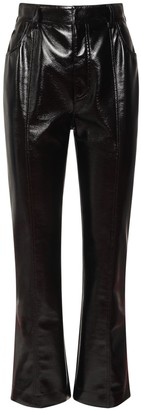 Philosophy di Lorenzo Serafini Faux Patent Leather Crop Pants