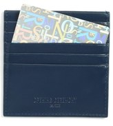 Opening Ceremony Logo Embossed Calfskin Leather Square Card Holder