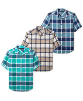 Sean John Shirt Big and Tall, Bright Check Short Sleeve Shirt