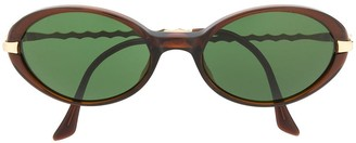Yves Saint Laurent Pre Owned 1990s Oval-Shaped Tinted Sunglasses