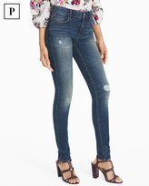 White House Black Market Petite High-Rise Destructed Skinny Jeans