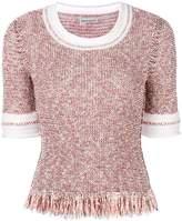 Sonia Rykiel fringed tweed sweater
