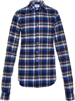 Vetements Checked cotton-flannel shirt