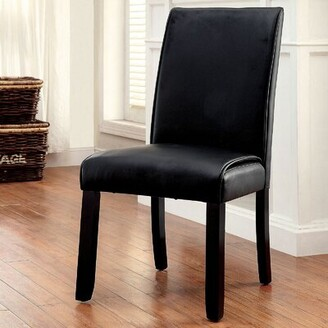 Red Barrel Studioâ® Lagho Upholstered Parsons Chair in Black Red Barrel StudioA