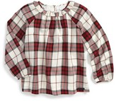 Burberry Girl's Karly Check Cotton Top