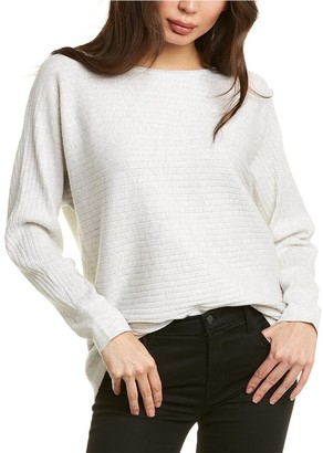 Forte Cashmere High-Low Rib Cashmere-Blend Pullover