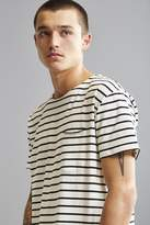 Urban Outfitters Nautical Stripe Long Loose Scoopneck Tee