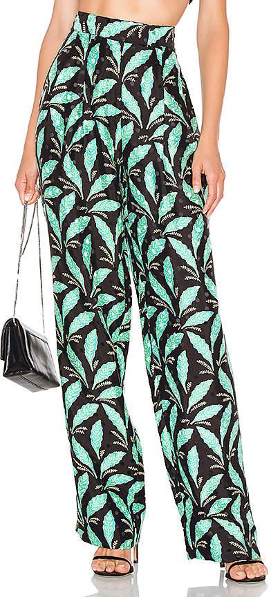 Diane von Furstenberg High Waisted Wide Leg Pant