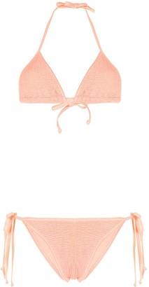 Hunza G Carmen crinkled bikini set