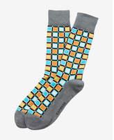 Express bold check print dress socks