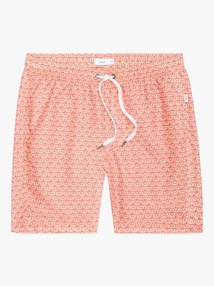 Onia Charles 7 Fan Print Swim Shorts, Pink
