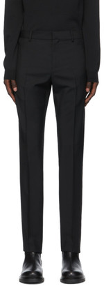 Valentino Black Wool and Mohair Zip Trousers
