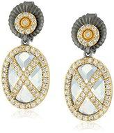 Freida Rothman Helix Stone Drop Earrings