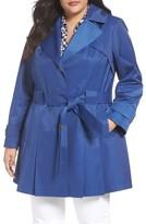 Via Spiga Plus Size Women's 'Scarpa' Single Breasted Trench Coat