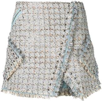 Faith Connexion Tweed Wrap Skirt