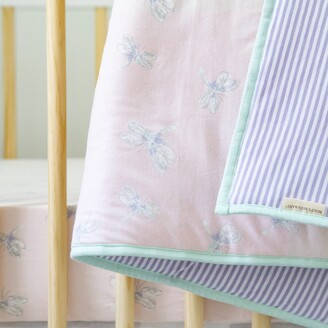 Burt's Bees Dragonfly Reversible Baby Quilt Made with Organic Cotton