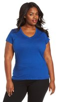 Southpole Juniors' Plus-Size Basic Solid V-Neck Tee