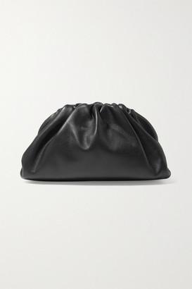 Bottega Veneta The Pouch Small Gathered Leather Clutch - Black