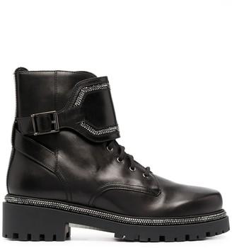 Rene Caovilla Crystal-Embellished Ankle Boots