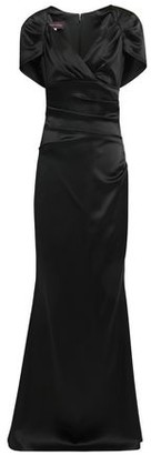 Talbot Runhof Polinesia Cape-effect Ruched Satin Gown