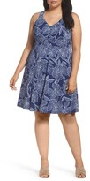Adrianna Papell Plus Size Women's Print Fit & Flare Dress