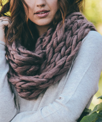 Leto Collection Women's Cold Weather Scarves DUPLICATE - Copper Heather Braided-Knit Infinity Scarf - Women